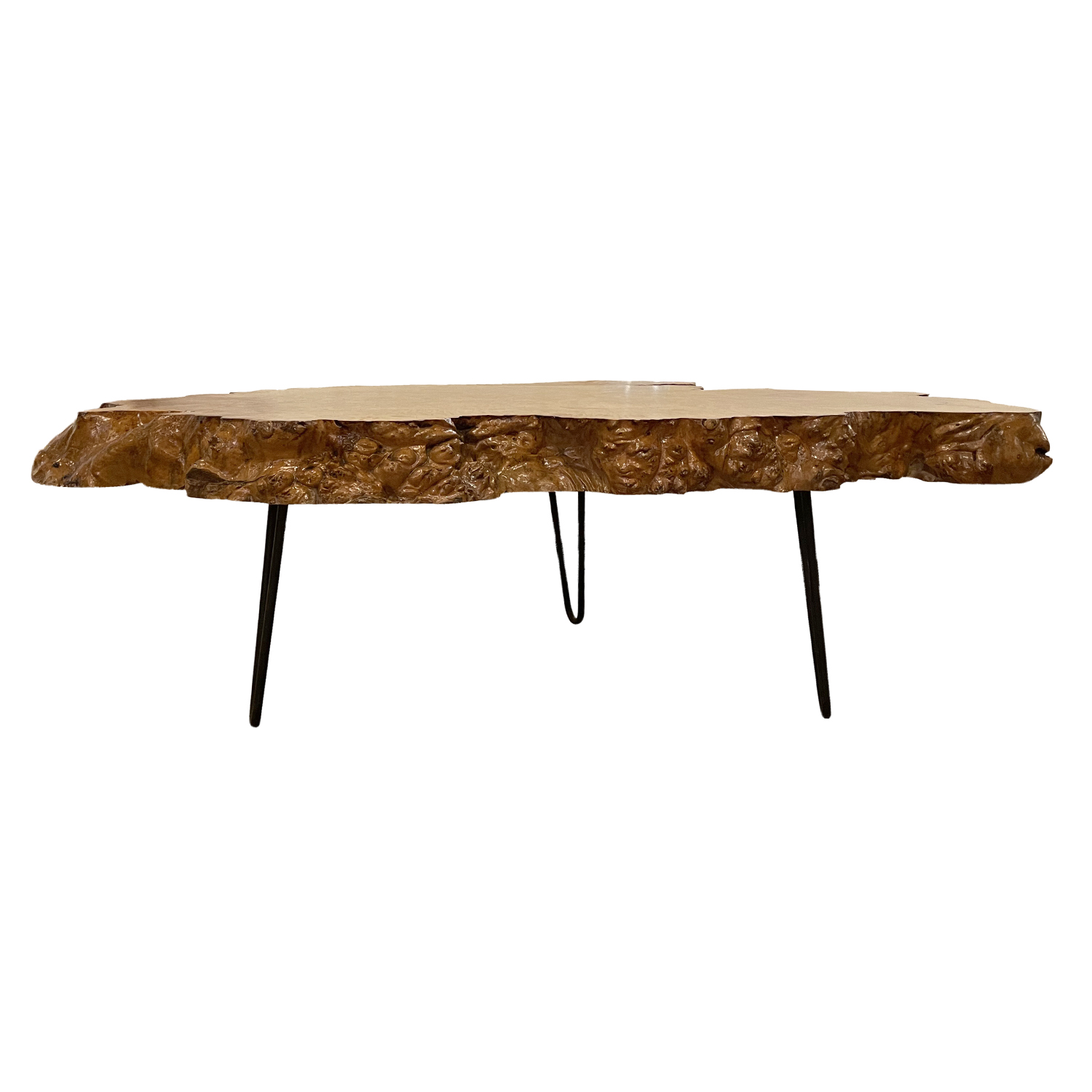 20th Century American Burlwood Coffee Table