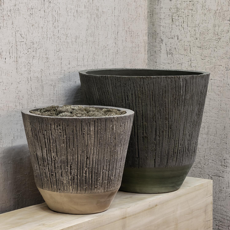Pair of Florian Pots