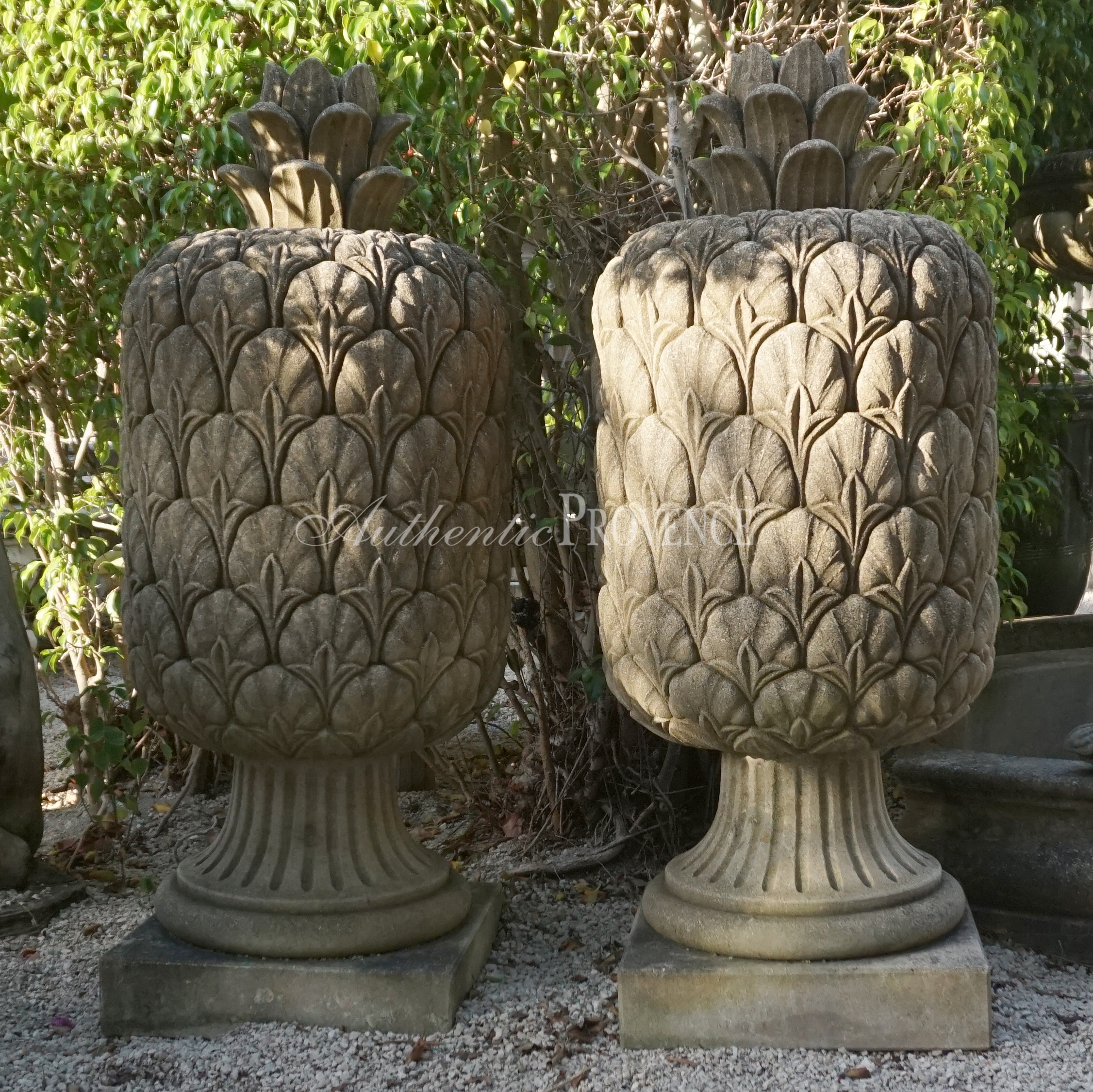Pair of Neoclassical Style Pineapple Finials