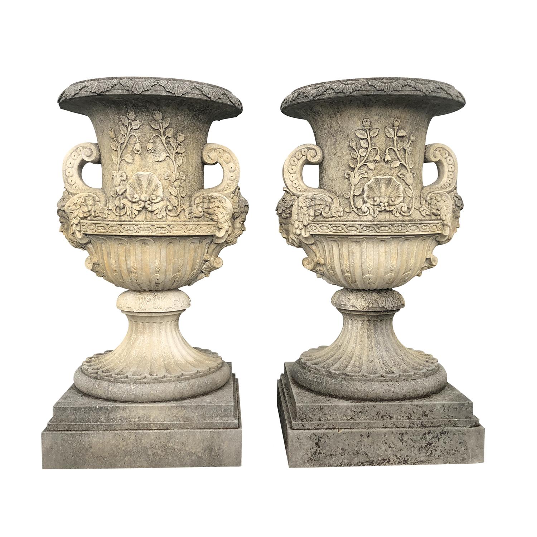 Pair of Monumental Vases