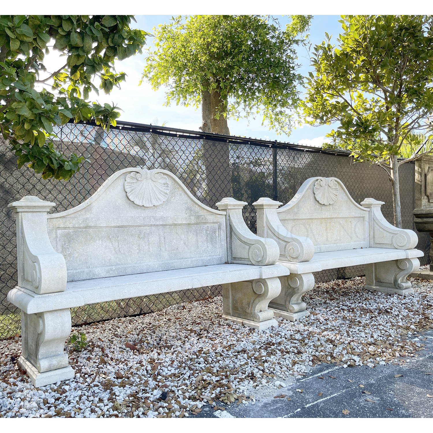 Pair of Coquille Benches