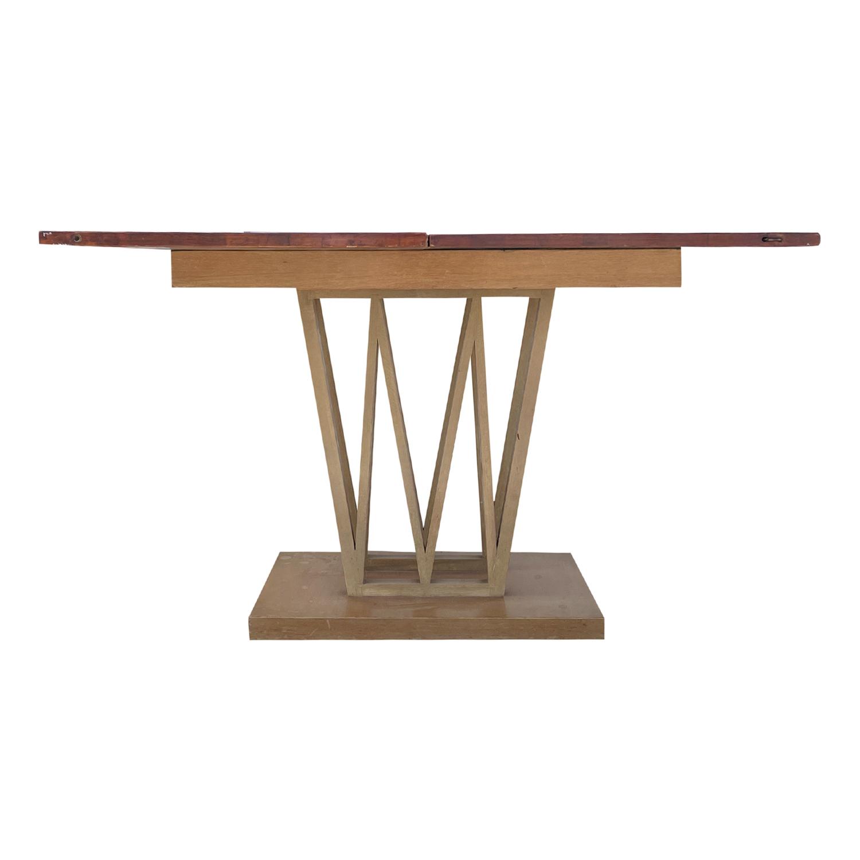 20th Century Light-Brown Danish Sculptural Folding Walnut Dining, End Table