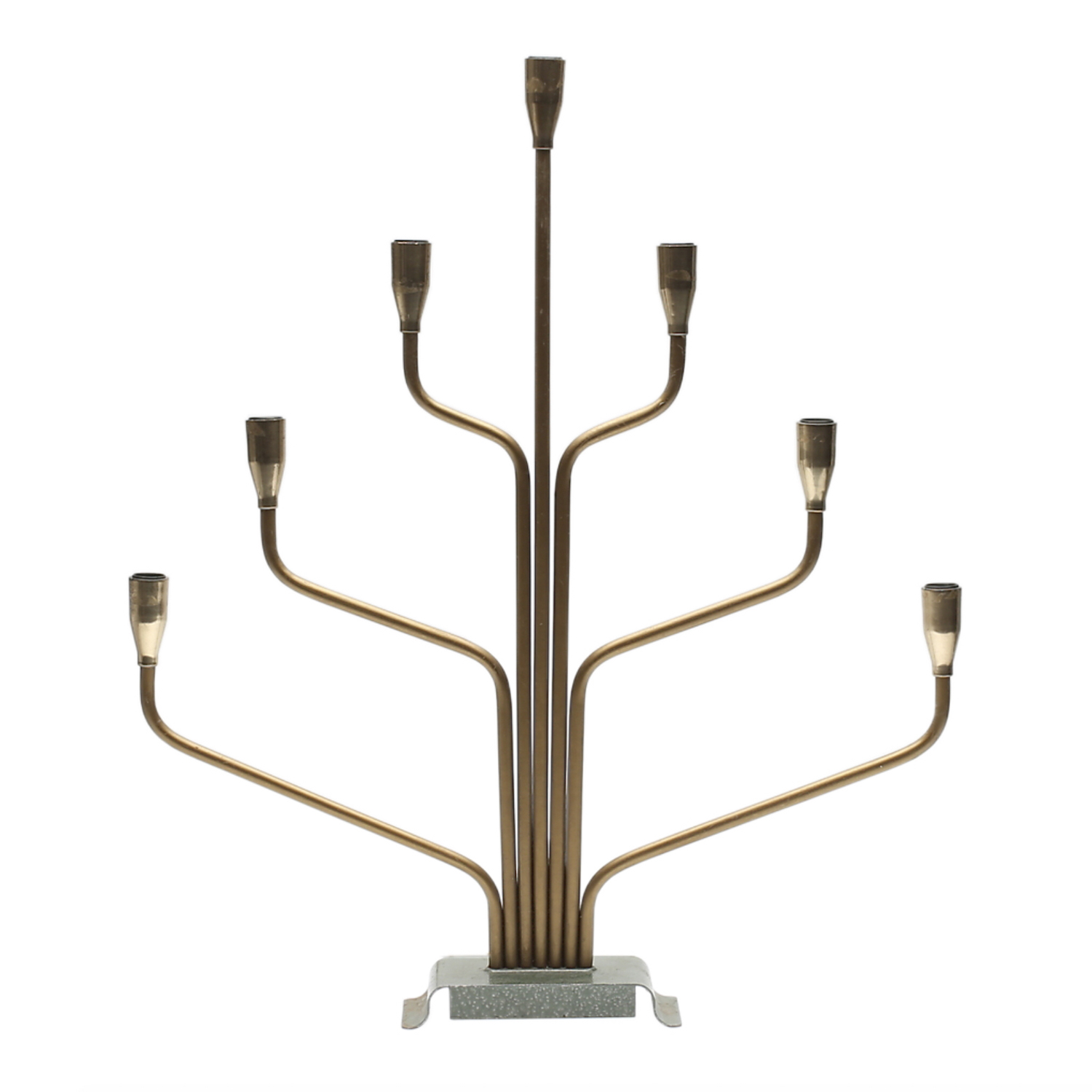 20th Century Adventsljusstake – Swedish Brass Table Light Candelabra