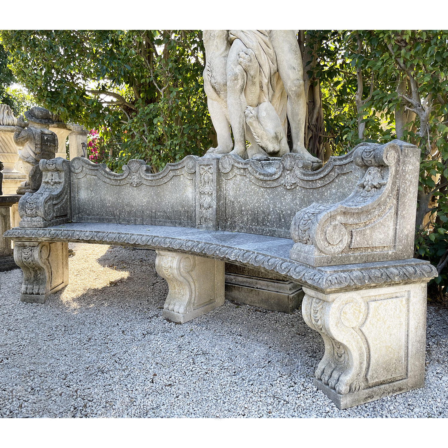 Curved Renaissance Style Bench