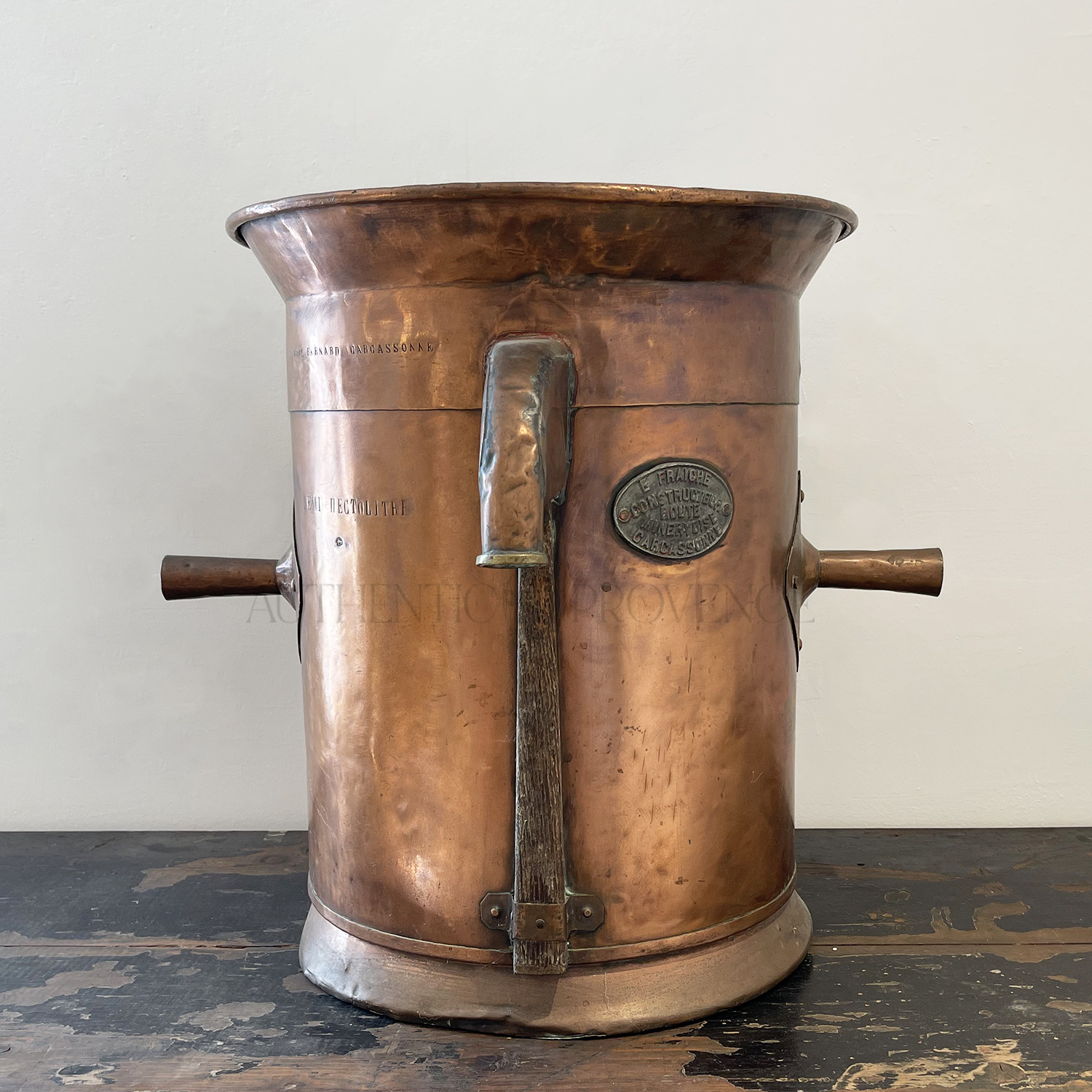 19th C. Copper Container Carcassconne