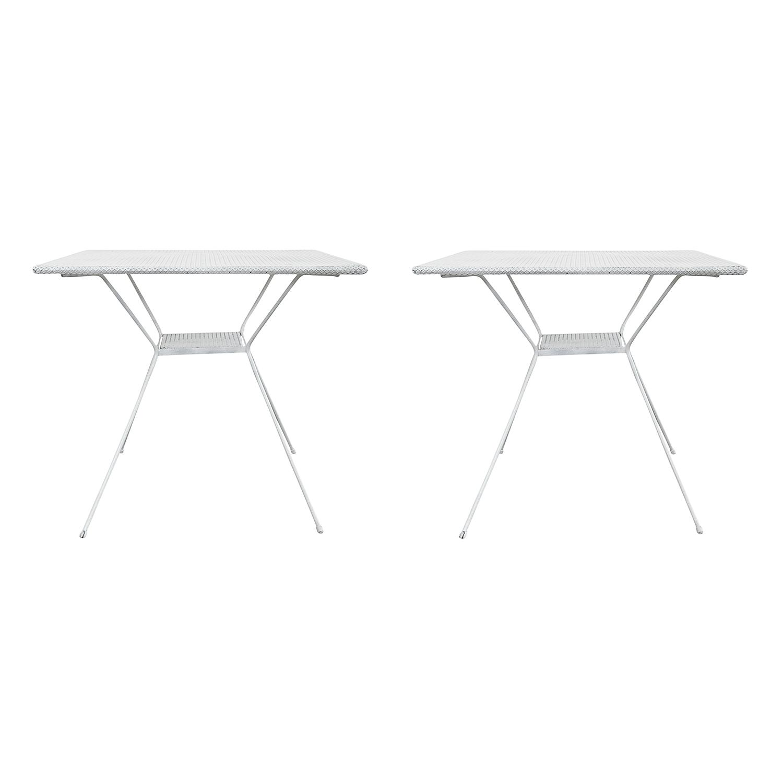 Pair of Italian Mid Century Modern White Tables