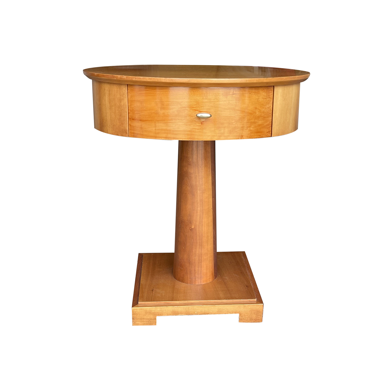 19th – 20th Century Swedish Cherrywood Bedside Table by Mobile Fresno Living