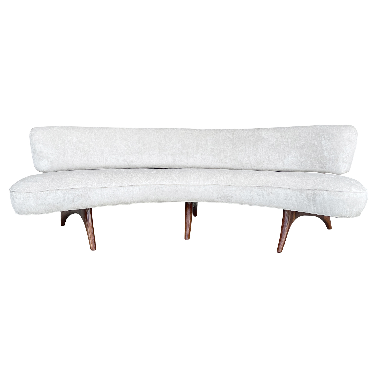 20th Century American Floating Settee – Curved Four Seater Sofa by Vladimir Kagan