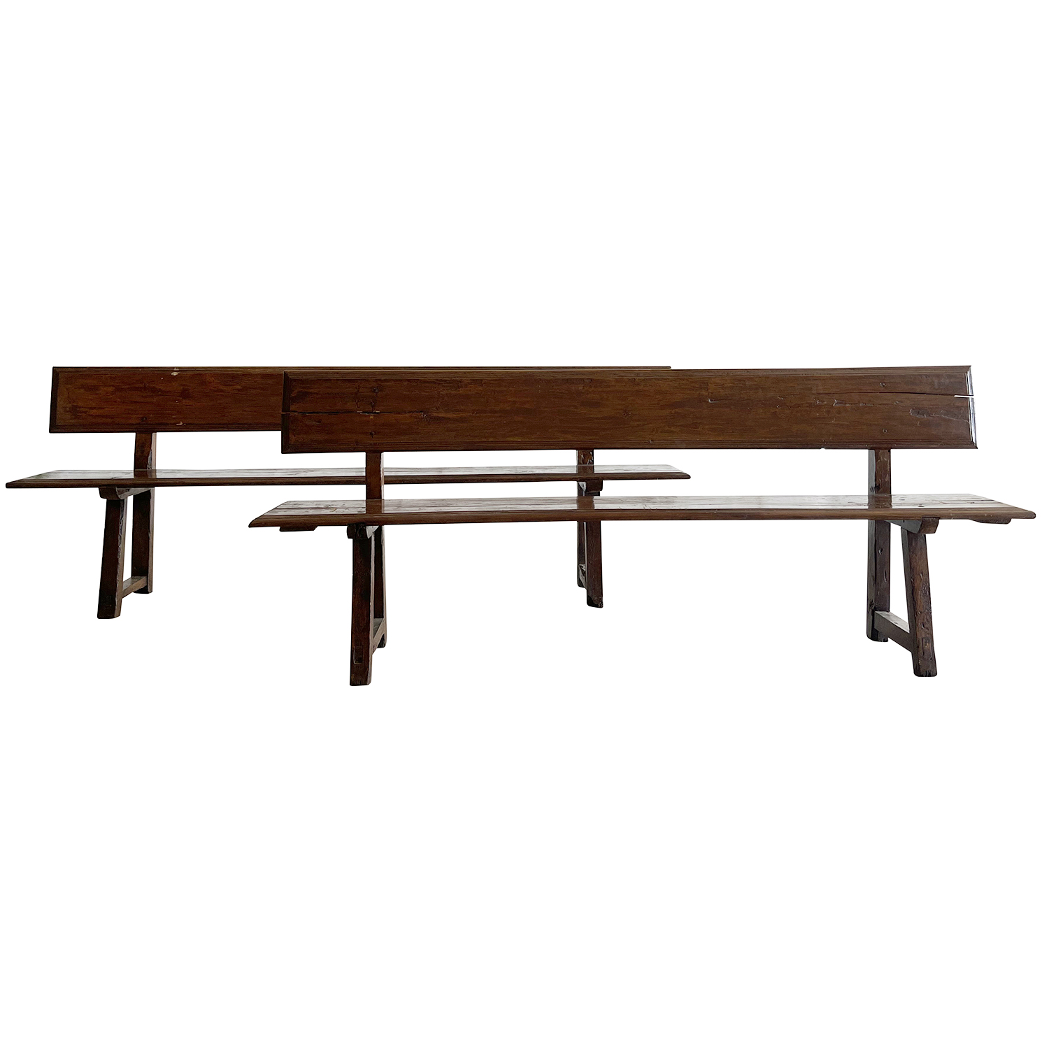 19th Century Pair of Italian Benches