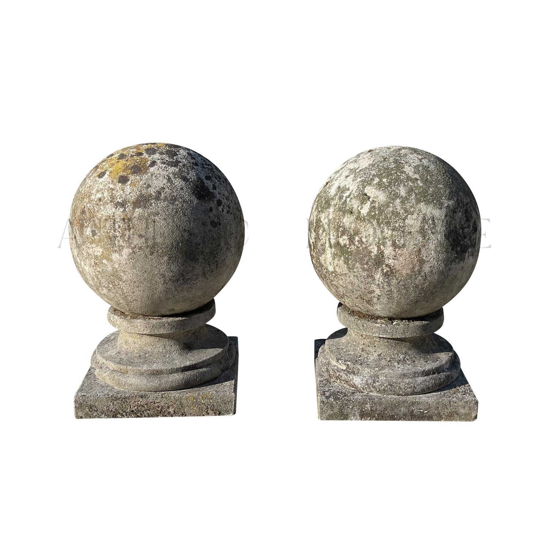 Pair of Mid 19th Century Garden Spheres