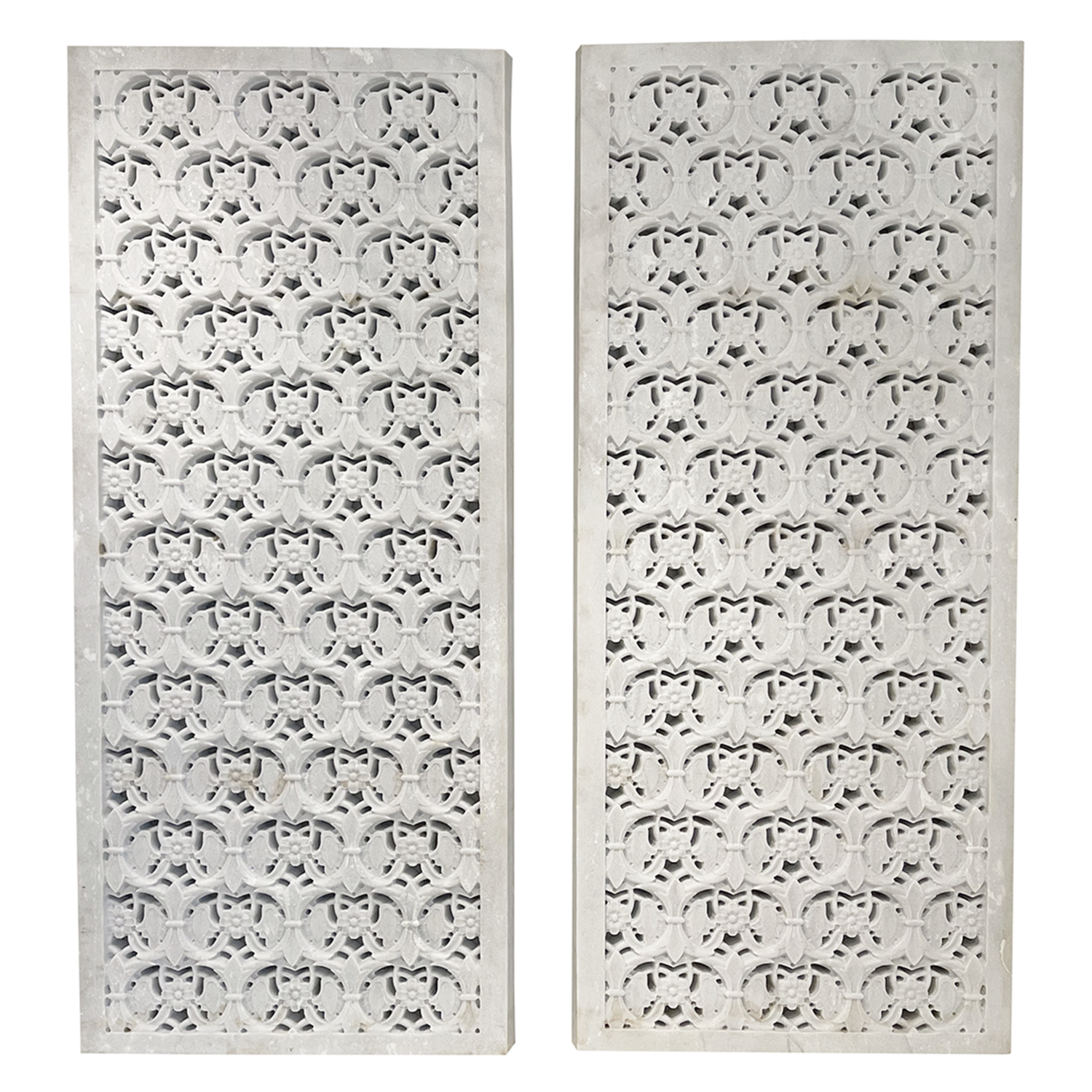 Pair of Floral Jali Wall Panels