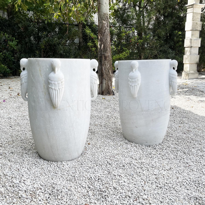 Pair of Oiseau Paradis Planters
