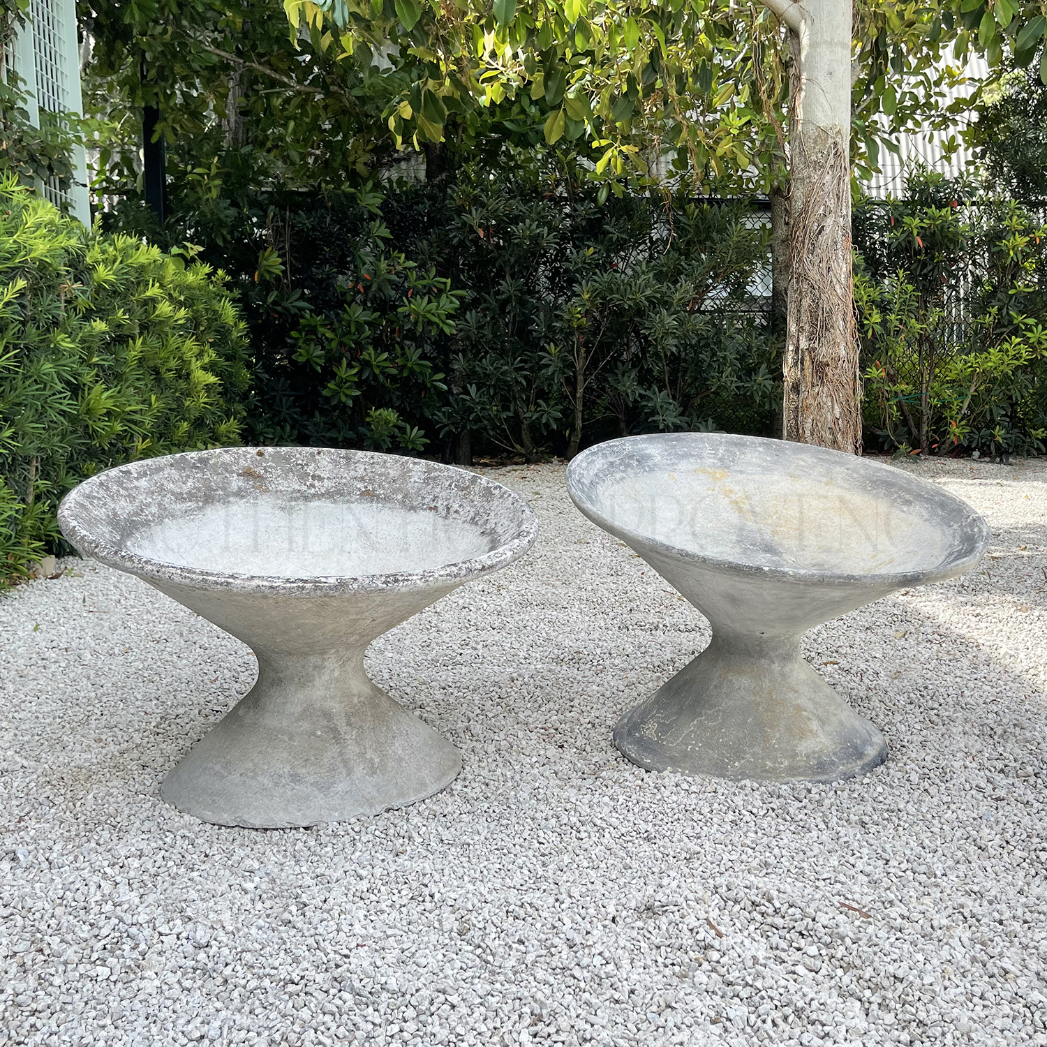 Pair of Willy Guhl Tilted Planters