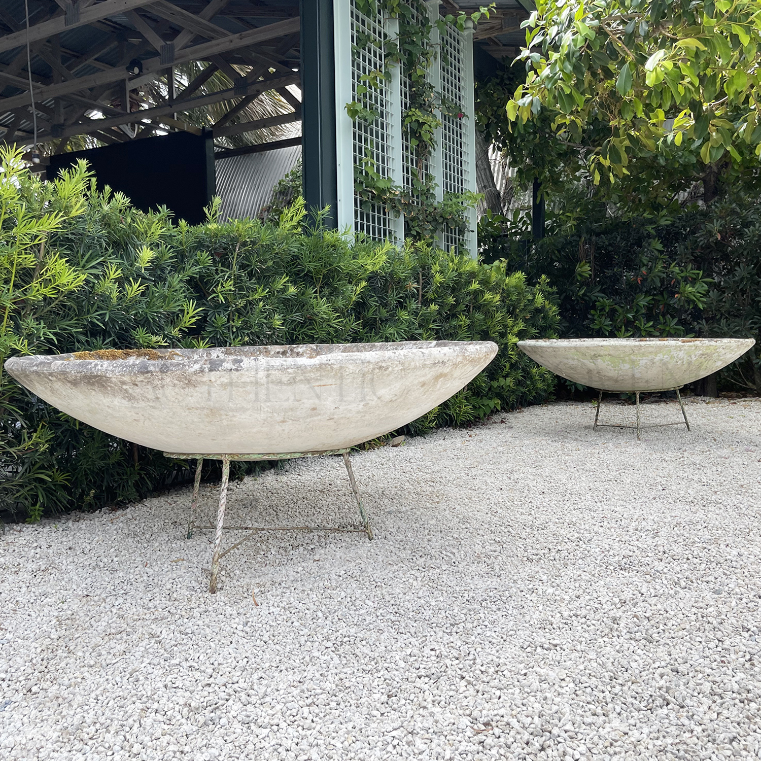 Pair of Willy Guhl Saucer Planters