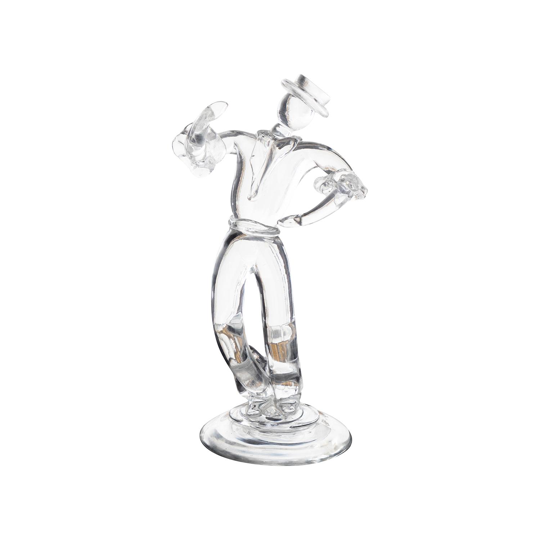 20th Century Italian Clear Murano Glass Figure, Sculpture by Archimede Seguso